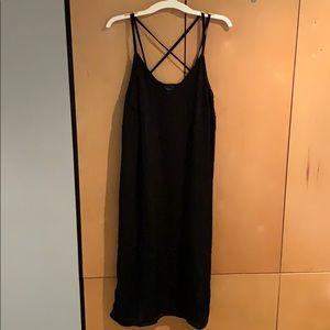 Black midi dress!